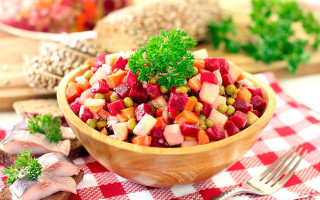 Винегрет с растительным маслом — калорийность и варианты приготовления