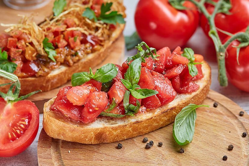 Бутерброды из томатов