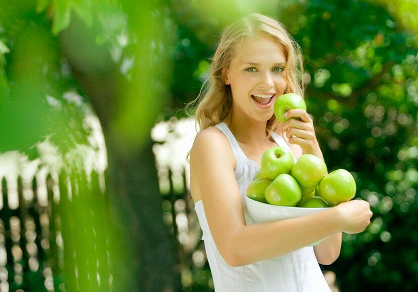 Яблоко - содержание БЖУ и калорийность разных сортов
