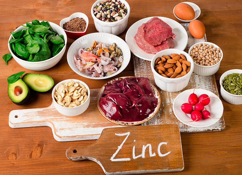 В каких продуктах содержится цинка больше всего - таблица