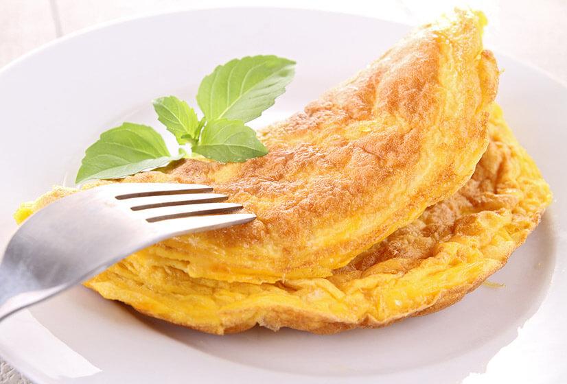 Омлет из двух яиц и молока - калорийность и БЖУ