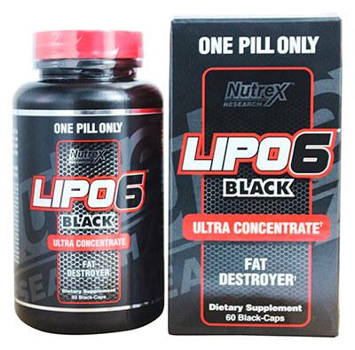 Жиросжигатель Lipo 6 black