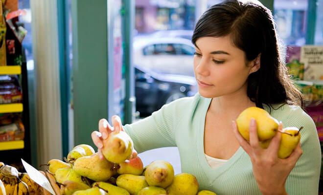 Калорийность фруктов и овощей